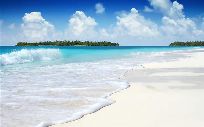 Summer blue ocean scenery HD desktop wallpaper 02 Views:550