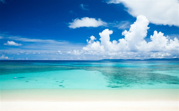 Summer tropical beach-Ocean scenery HD wallpaper Views:1377