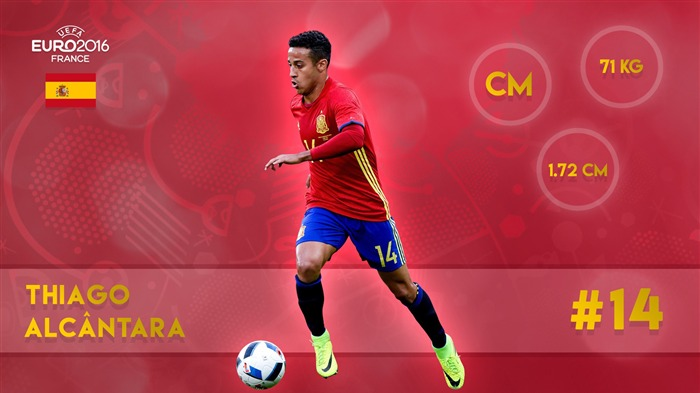 Thiago alcantara-UEFA Euro 2016 Player Wallpaper Views:1654