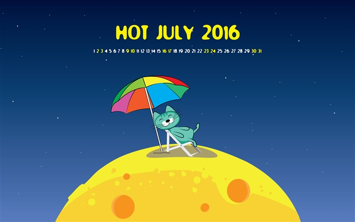 July 2016 Calendar Desktop Themes Wallpaper Views:6336