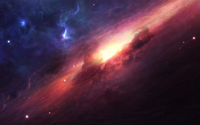 beautiful ice fire space-Universe Digital HD Wallpaper Views:1766