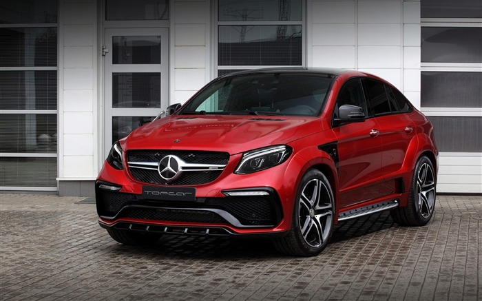 2016 Red Mercedes-Benz GLE Inferno HD Wallpaper Views:4057