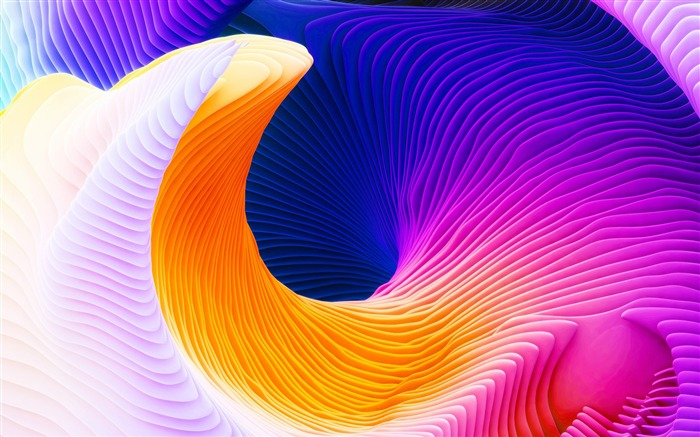 Title:3D Color abstract spiral-Vector design theme wallpaper Views:1314