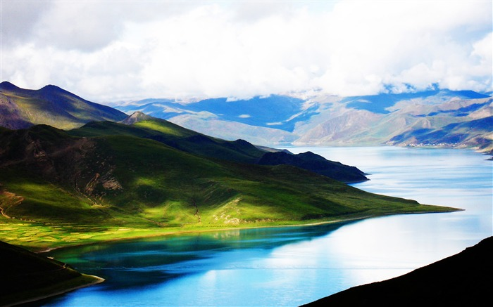 China Tibet Plateau rivers-HD Retina Wallpaper Views:2072