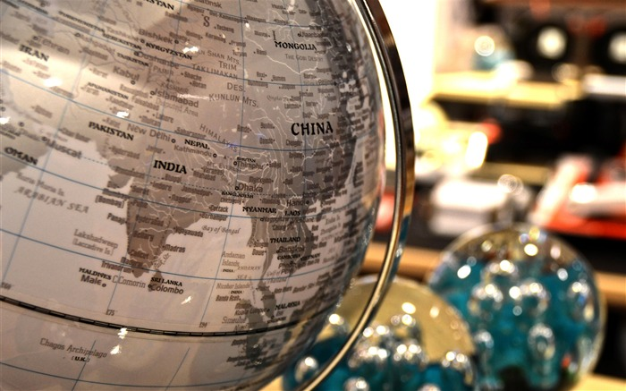 Globe map ball-2016 High Quality Wallpaper Views:1819