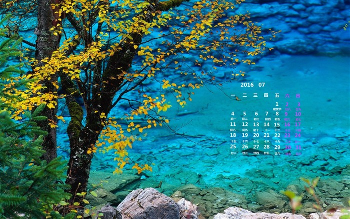 July 2016 Calendar High Quality Wallpaper 04 Views:1177