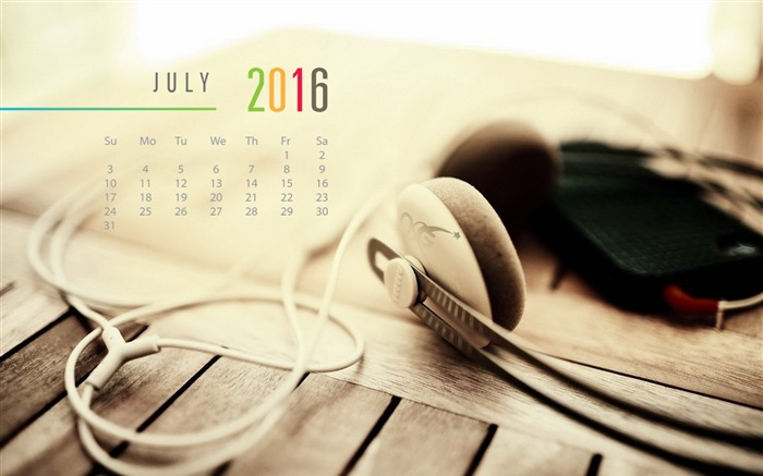 July 2016 Calendar High Quality Wallpaper 09 Views:1135