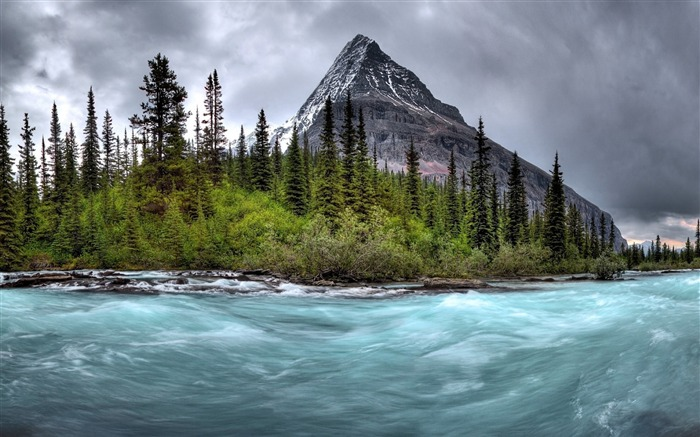 Mountain river stream gloomy-Scenery High Quality Wallpaper Views:2066