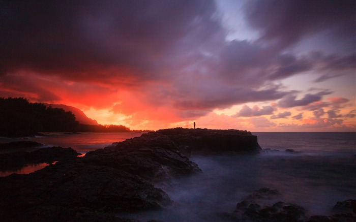 Sunset ocean sky mist-Scenery High Quality Wallpaper Views:1742