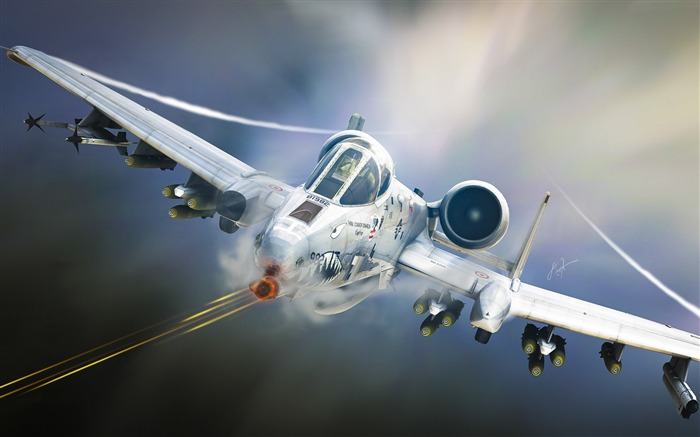 A10 thunderbolt army air force aircraft-2016 Art Design HD Wallpaper Views:4809