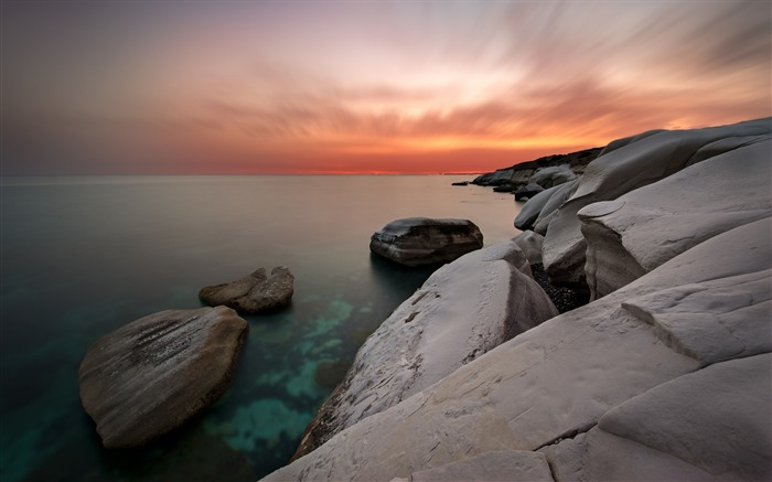 Coastal white rocks sunset-2016 High Quality Wallpaper Views:2263