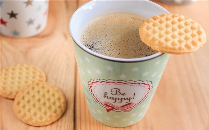 Coffee cup cookies-2016 High Quality Wallpaper Views:1746