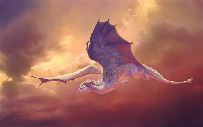 Dragon wings sky pegasus clouds-2016 Art Design HD Wallpaper Views:1601