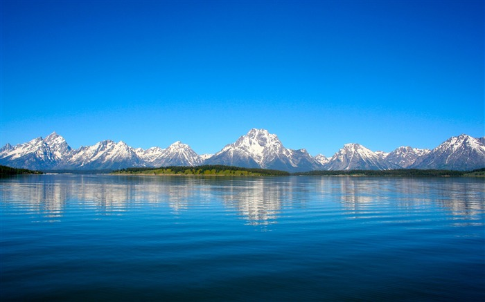 Grand teton mountain lake-2016 High Quality Wallpaper Views:2266