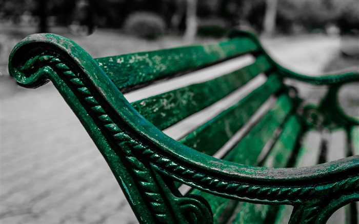 Green bench park-2016 High Quality Wallpaper Views:1646