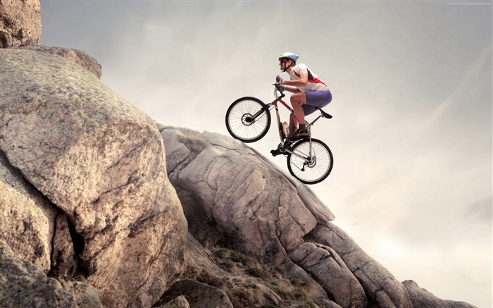 Rock climbing bicycle extreme-2016 High Quality Wallpaper Views:1681