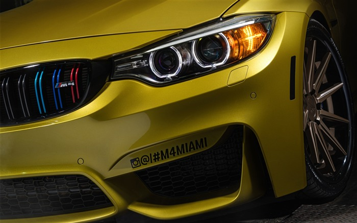 Yellow bmw m4 austin-2016 High Quality Wallpaper Views:1623