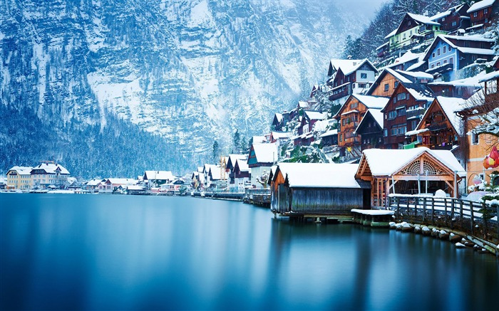 Austria winter snow landscape-Nature High Quality Wallpaper Views:1866