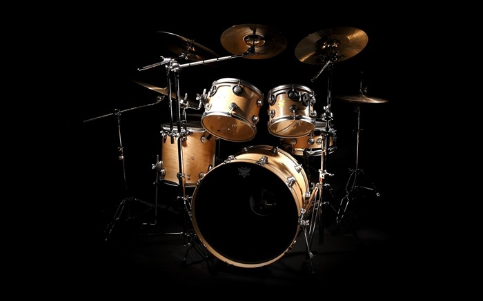 Drums black background-2016 Music HD Wallpaper Views:1196