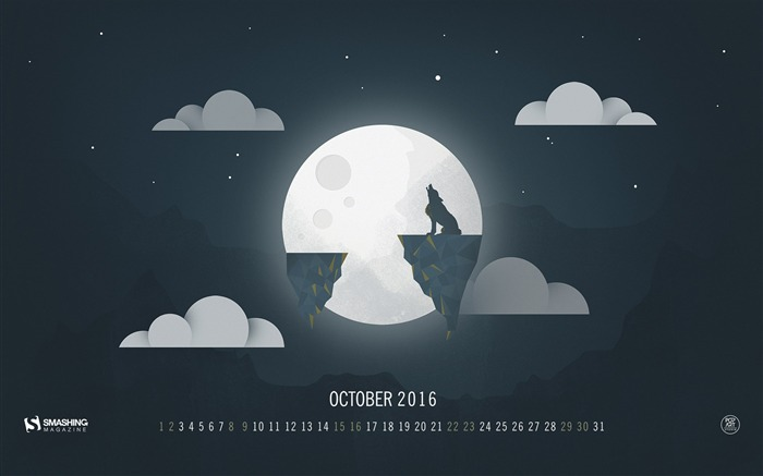 Halloween For October-October 2016 Calendar Wallpaper Views:1810