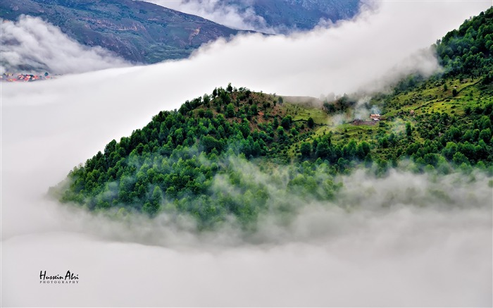 Iran Mountain Forest Mist Village-Nature High Quality Wallpaper Views:1015