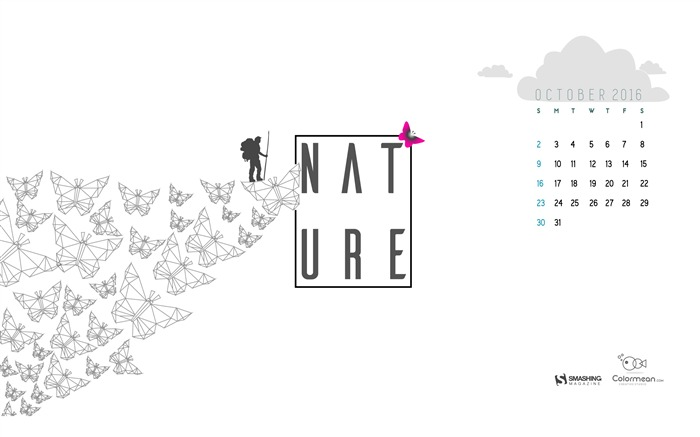 Nurture Nature-October 2016 Calendar Wallpaper Views:1480