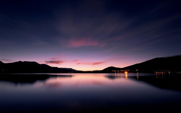 Sunset dusk calm lake-Nature High Quality Wallpaper Views:1655