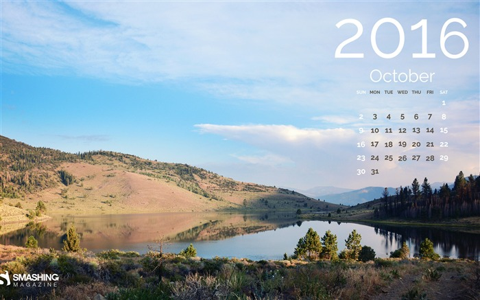 Untouched Beauty-October 2016 Calendar Wallpaper Views:661