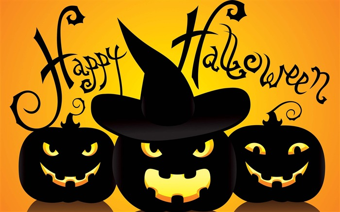 2016 Happy Halloween Holiday HD Wallpaper 01 Views:1560