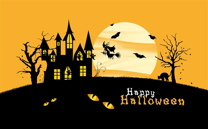2016 Happy Halloween Holiday HD Wallpaper 03 Views:1373