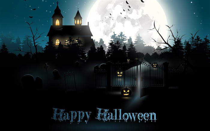 2016 Happy Halloween Holiday HD Wallpaper 06 Views:1304