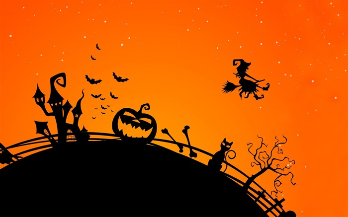 2016 Happy Halloween Holiday HD Wallpaper 10 Views:1530