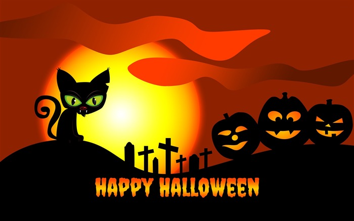 2016 Happy Halloween Holiday HD Theme Wallpaper Views:3795