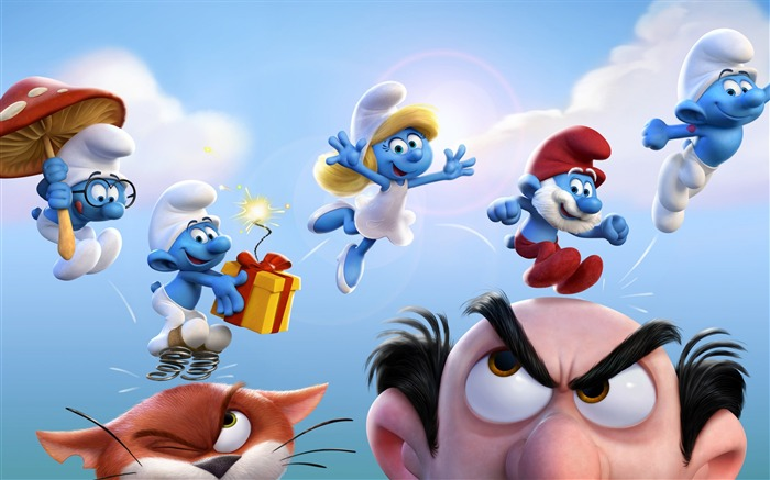 Smurfs The Lost Village 2017 Movie Poster HD Wallpaper Views:8021