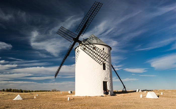 Windmill field sky-Scenery High Quality Wallpaper Views:2307 Date:10/23/2016 6:55:57 PM