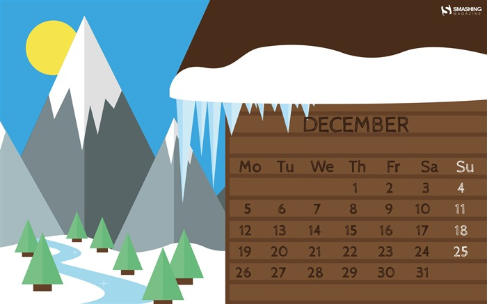 Baby Its Cold Outside-December 2016 Calendar Wallpaper Views:1796