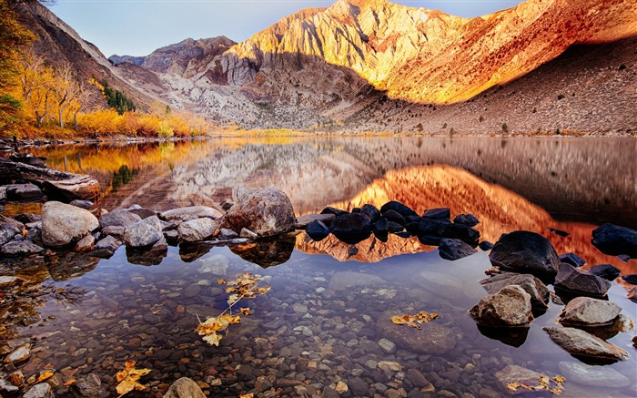 Clear Convict Lake Rock-Travel HD Wallpaper Views:2413