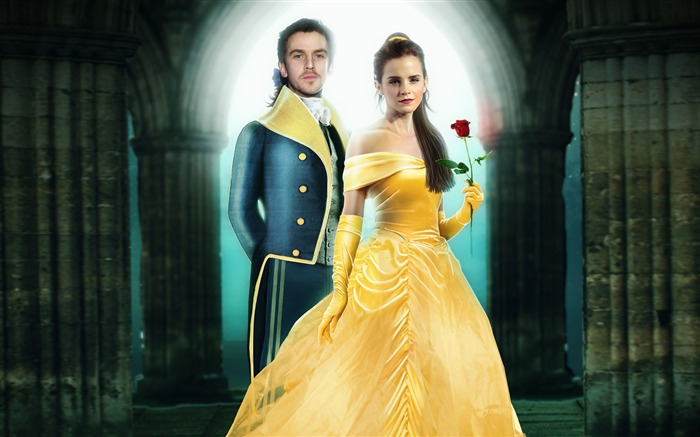 Dan stevens emma watson beauty and the beast-2016 Movie HD Wallpaper Views:1831