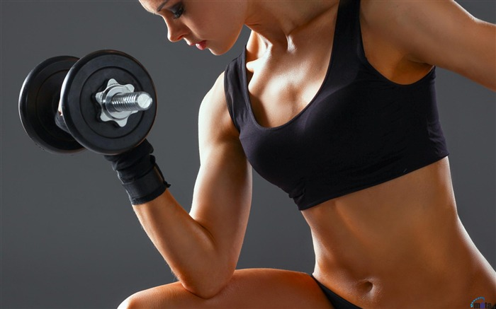 Girl with dumbbells-Sports Poster Wallpaper Views:1284