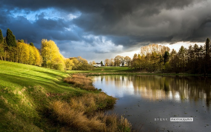Madeley heath fishpond-England travel scenery wallpaper Views:1710