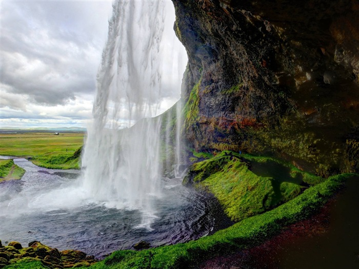 Seljalandsfoss Iceland waterfall-Nature Scenery Wallpaper Views:2135