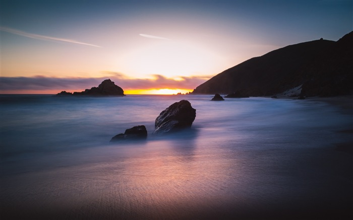 Sunset Pfeiffer Beach Travel-Nature Scenery Wallpaper Views:2093