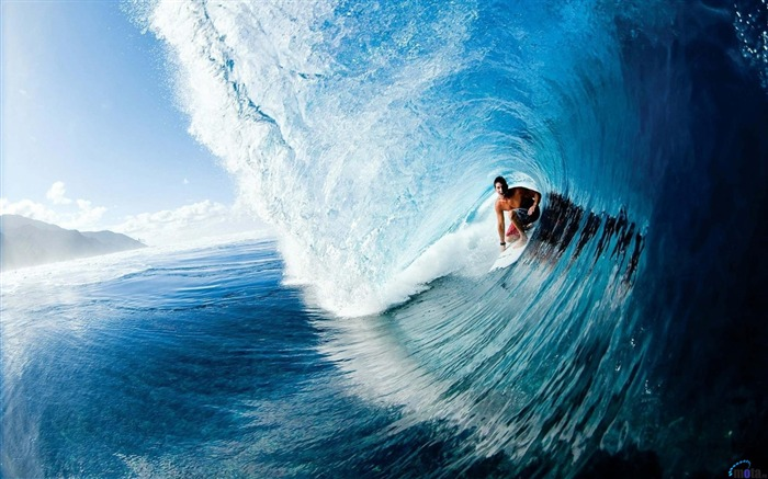 Surfer in the wave-Sports Poster Wallpaper Views:788