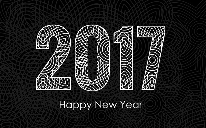 2017 Happy New Year HD Festivals Fonds d'écran Vues:875