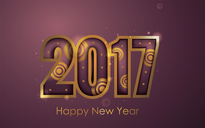 2017 Happy New Year HD Festivals Fonds d'écran Vues:1237