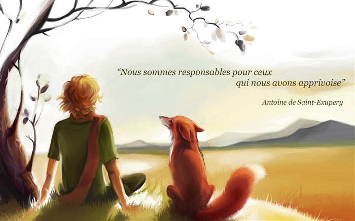 Antoine saint exupery-Text Artistic Design HD Wallpaper Views:1198