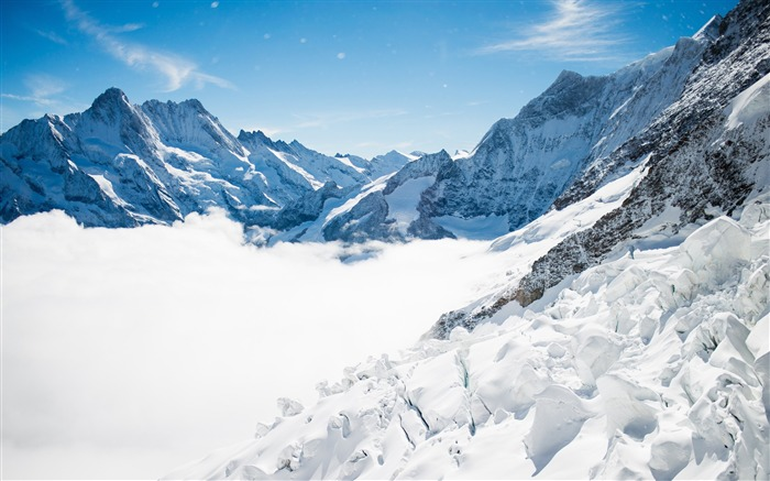 Bernese alps winter mountains-Nature High Quality HD Wallpaper Views:5698 Date:12/10/2016 10:12:04 PM