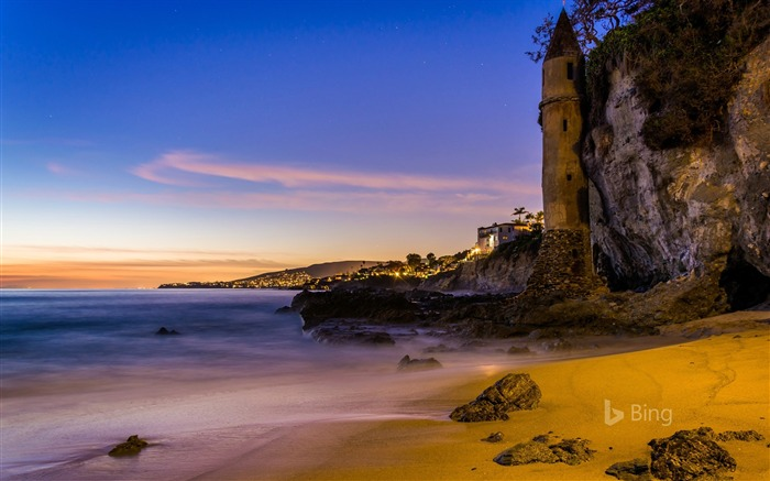 California The tower at Victoria Beach Laguna Beach-2016 Bing Desktop Wallpaper Views:1279