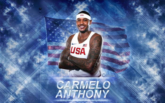Carmelo Anthony-2016 Basketball Star Poster Wallpaper