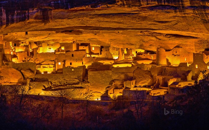 Colorado Luminaria festival Mesa Verde National Park-2016 Bing Desktop Wallpaper Views:862